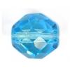 Fire polished 10mm Aquamarine Strung